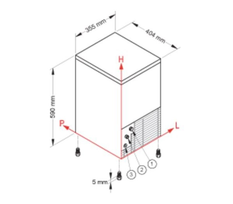 Brema Eis-Maschine 46kg / 24h | Bunker 25kg | Brema CB 425