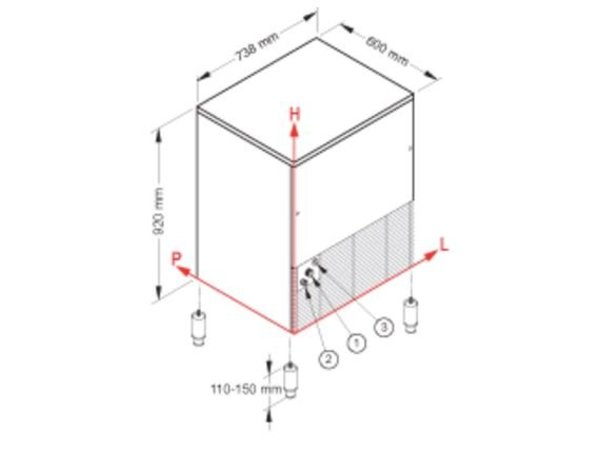 Brema Eis-Maschine 80kg / 24h | Bunker 40kg | Brema CB 840