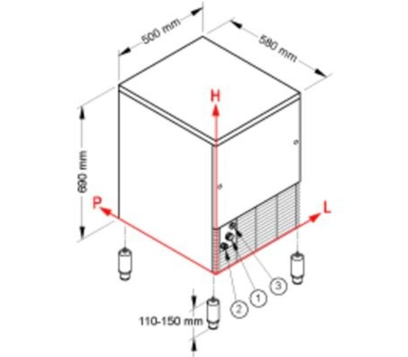 Brema Eis-Maschine 42kg / 24h | Bunker 16kg | Brema CB 416