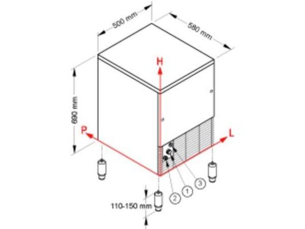 Brema Eis-Maschine 33kg / 24h | Bunker 16kg | Brema CB 316