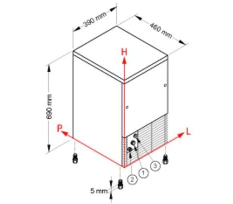 Brema Eis-Maschine 28kg / 24h | Bunker 9 kg | Brema CB 249
