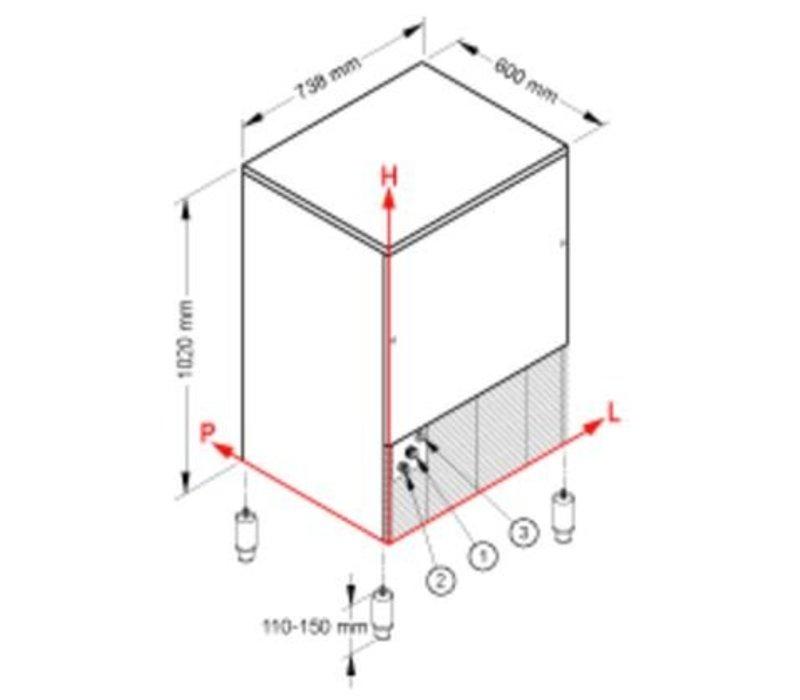 Brema Eismaschine 155kg / 24h | Bunker 65kg | Brema CB 1565