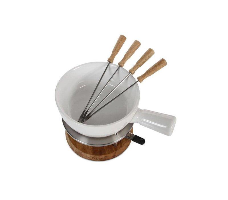 boska fondue set bianco keramik sch ssel 295x220x190mm. Black Bedroom Furniture Sets. Home Design Ideas