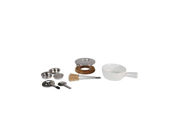 Boska Fondue Set Bianco | Keramik-Schüssel | 295x220x190mm