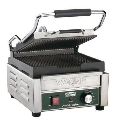 Waring Commercial Panini Grill Ribbed / Ribbed | 2kW | 235x292x394mm