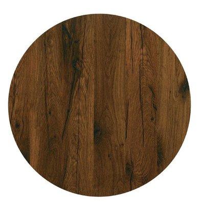 Werzalit Tischplatte Werzalit | Antique Oak | Ø600mm