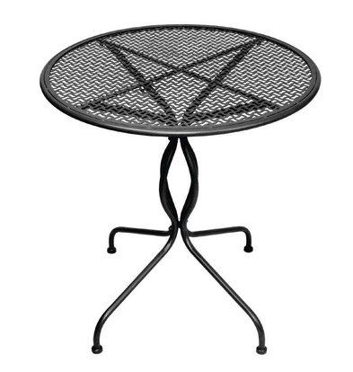 XXLselect Klassischer Tisch | Black Steel | Ø700mm