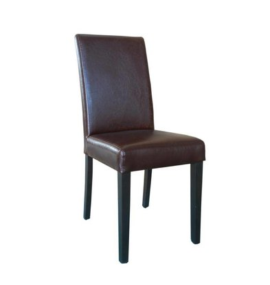 XXLselect Art Leather Dining Chair | Antik Dunkel | 2 Stück