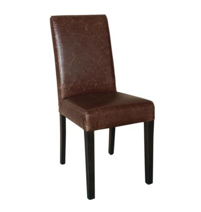 Bolero Art Leather Dining Chair | Antique Brown | 2 Stück