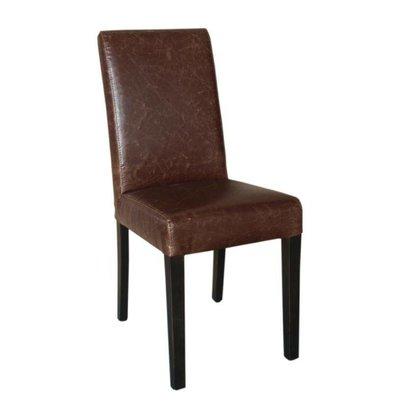 XXLselect Art Leather Dining Chair | Antique Brown | 2 Stück