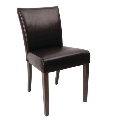 Bolero Art Leather Dining Chair | dunkle | 2 Stück
