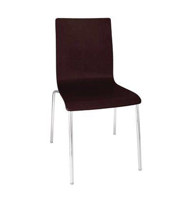 XXLselect Stuhl Nussbaum mit Platz Teppich | stapelbare | 4 Stück