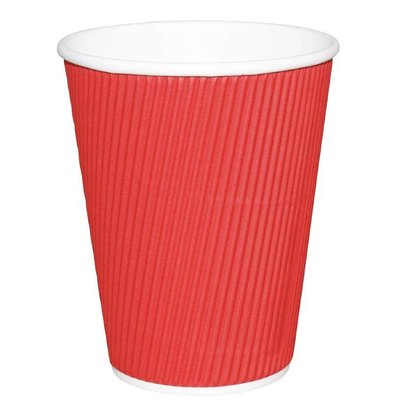 Fiesta Disposable Cups Wrinkled Red | 340ml | 25 pieces
