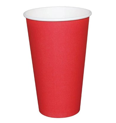 Fiesta Disposable Cups Red | 340ml | Single walled | By 1000 Pieces