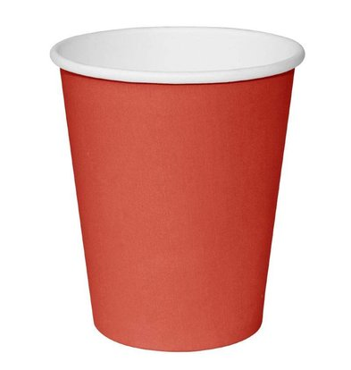 Fiesta Disposable Cups Red | 230ml | Single walled | By 1000 Pieces