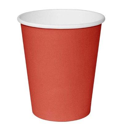 Fiesta Einwegbecher Red | 230ml | Einwandige | Pro 50 Stück