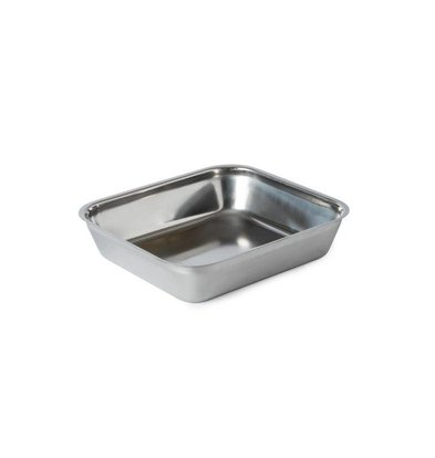 XXLselect Stainless steel meat tray | 244x216x55mm