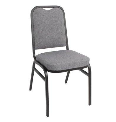 XXLselect Bankett-Stuhl Stahlgrau | Platz Rückenlehne | Pro 4 Stück