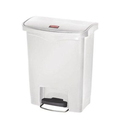 Rubbermaid Pedal bin Rubbermaid Slim Jim | 30 Liter | Frontstep | White
