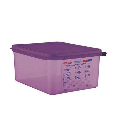 Araven Araven Silicone Food Box Allergens | 10ltr | GN 1/2 | Incl. cover