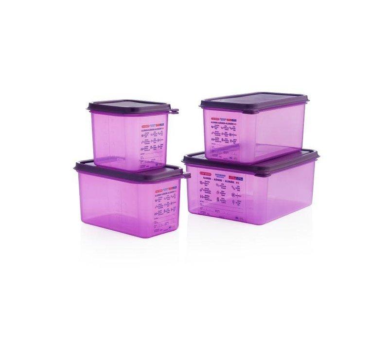 Araven Araven Silikon-Nahrungsmittelkasten Allergens | 10ltr | GN 1/2 | Incl. Abdeckung