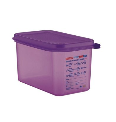 Araven Araven Silicone Food Box Allergens | 4,3Ltr | GN 1/4 | Incl. cover