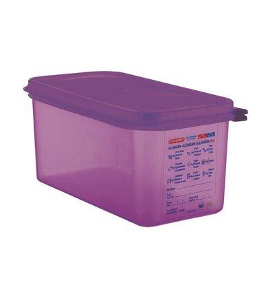 Araven Araven Silicone Food Box Allergens | 6ltr | GN 1/3 | Incl. cover