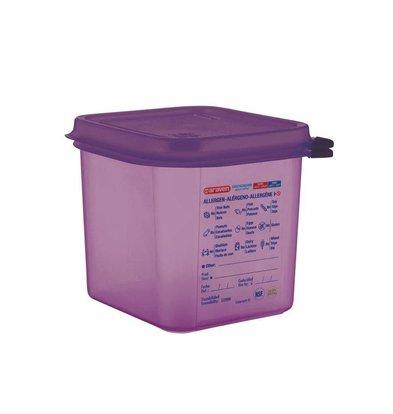Araven Araven Silikon-Nahrungsmittelkasten Allergens   2,6Ltr   GN 1/6   Incl. Abdeckung