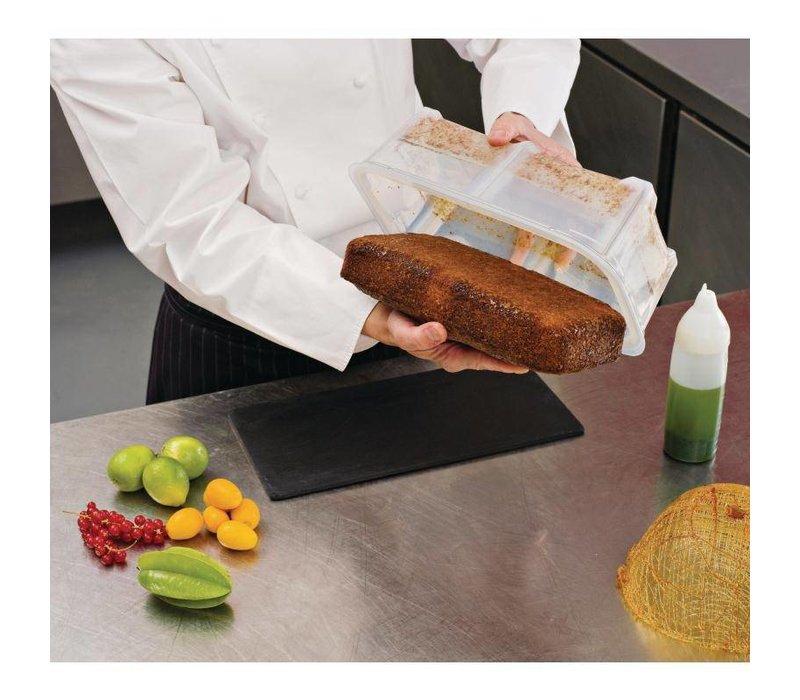 Araven Araven Silikon-Nahrungsmittelkasten 9,5Ltr | GN 1/2 | Incl. Abdeckung