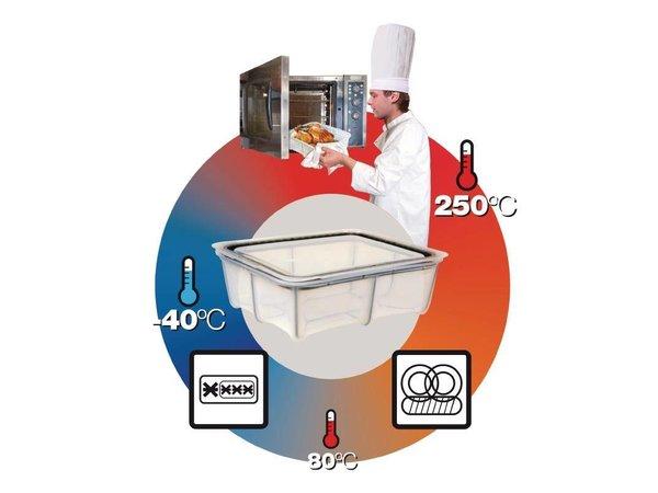 Araven Araven Silikon-Nahrungsmittelkasten 5,2Ltr | GN 1/3 | Incl. Abdeckung