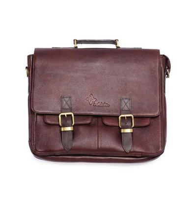 XXLselect Boldric Messenfoudraal | Brown Leather | 10-Delig