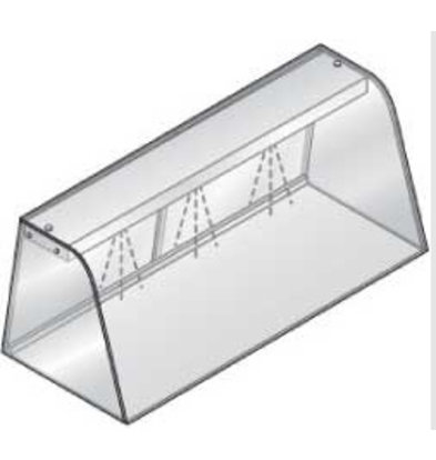 Diamond Display case with light (neon lamp), closed with sliding doors