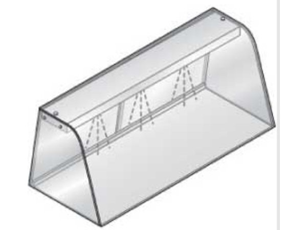 Diamond Vitrine mit Licht (Glimmlampe), geschlossen mit Schiebetüren