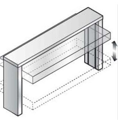 Diamond Bovenbouw met koepel, automatische verhoging