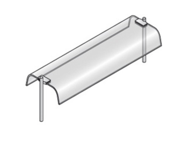 Diamond Oberbau mit gebogenem Glas, dual