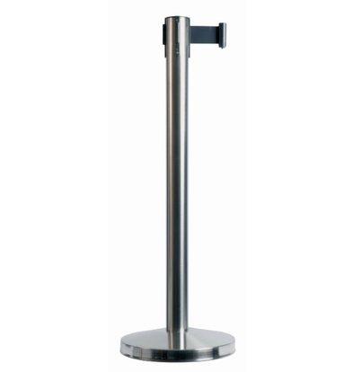 Securit Marketingunterstützung Post Chrome 10 kg | Schwarz Tension 190cm | 910 (h) mm