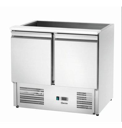Bartscher Saladette - RVS - 2 deurs - 3x 1/6 GN en 2x 1/1 GN - 90x70 x(h)123cm