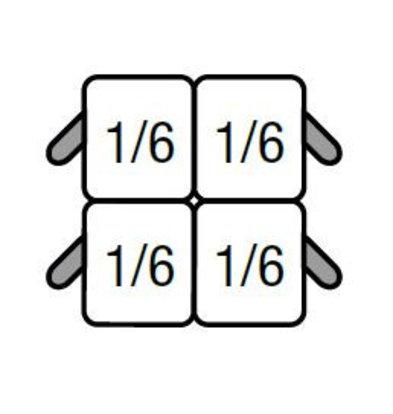 Saro Set van 4x GN1/6 Mandjes | voor Saro Pastakoker