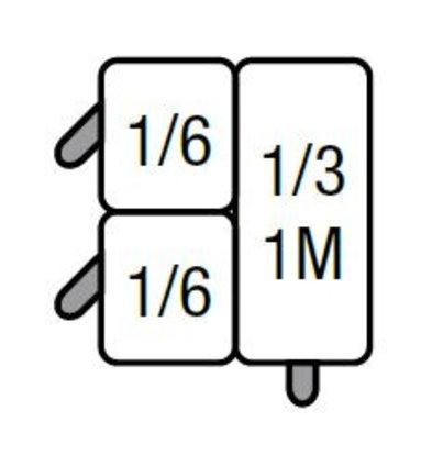Saro Set van 2x GN1/6 en 1x GN1/3 Mandjes   voor Saro Pastakoker