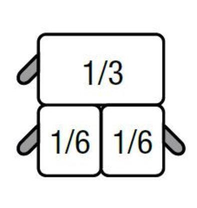 Saro Set van 2x GN1/6 en 1x GN1/3 Mandjes | Voor Saro Pastakoker