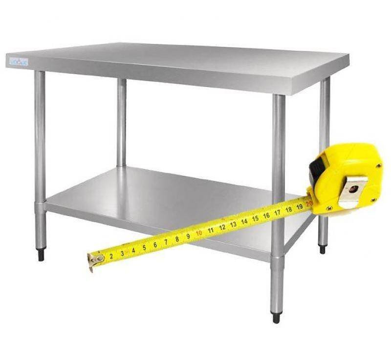 XXLselect RVS Werktafel op Maat - Alle soorten Werkbanken van Roestvrij Staal leverbaar in iedere Maat!