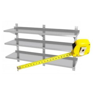 XXLselect Stainless steel Shelf on Size - All types of Stainless Steel Wandschappen available in any size