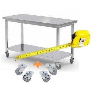 XXLselect Stainless steel workbench / Cupboard on Wheels | CUSTOM | Each size Possibility