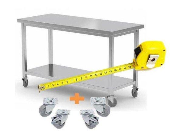 XXLselect RVS Werktafel / Werkkast op Wielen | MAATWERK | Elke Maat Mogelijk