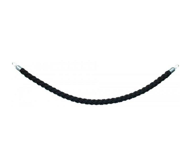 Securit Schnurauslass Chrome Black Satin - 1.5 m | DELUXE