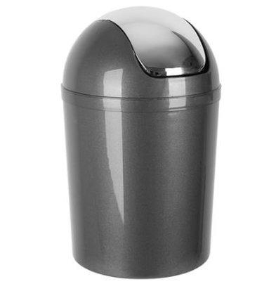 Emga Kunststoff-Papierkorb mit Schwingdeckel | 5L | grau