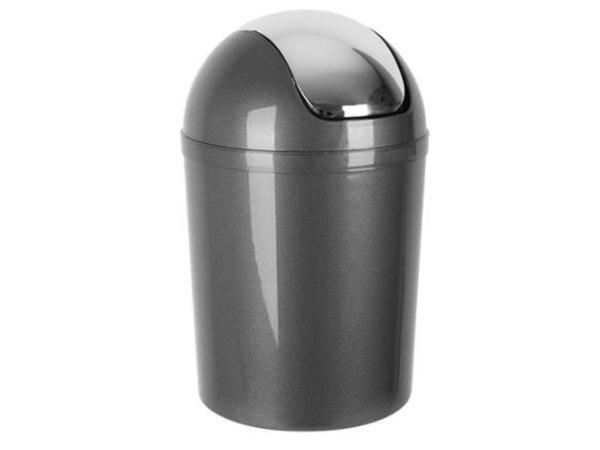 Emga Kunststoff-Papierkorb mit Schwingdeckel   5L   grau