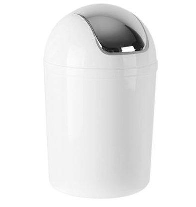 Emga Waste bin Plastic with tuft cover | 5L | White