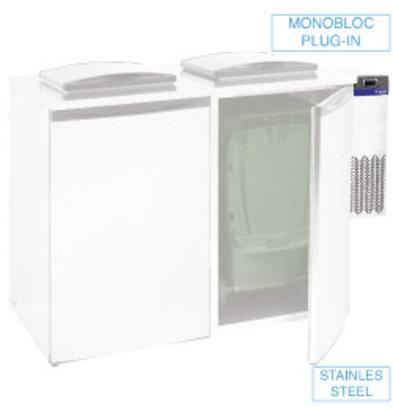 Diamond Verschwenden Cooler - Doppel Unit - 28x54x (h) 74