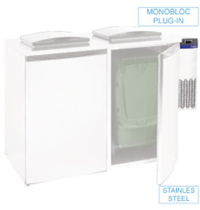 Diamond Waste Cooler - Double Unit - 28x54x (h) 74